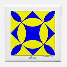 Indiana square w edge Tile Coaster