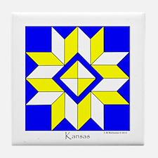 Kansas square w edge Tile Coaster