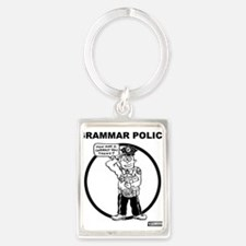 Cute Grammar police Portrait Keychain