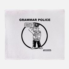 Cute Grammar police Throw Blanket
