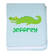 Personalized Crocodile Alligator baby blanket