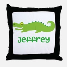 Personalized Crocodile Alligator Throw Pillow