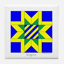 Virginia square w edge Tile Coaster