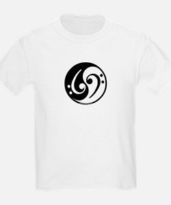Yin Yang Bass Note Kids T-Shirt