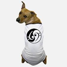 Yin Yang Bass Note Dog T-Shirt