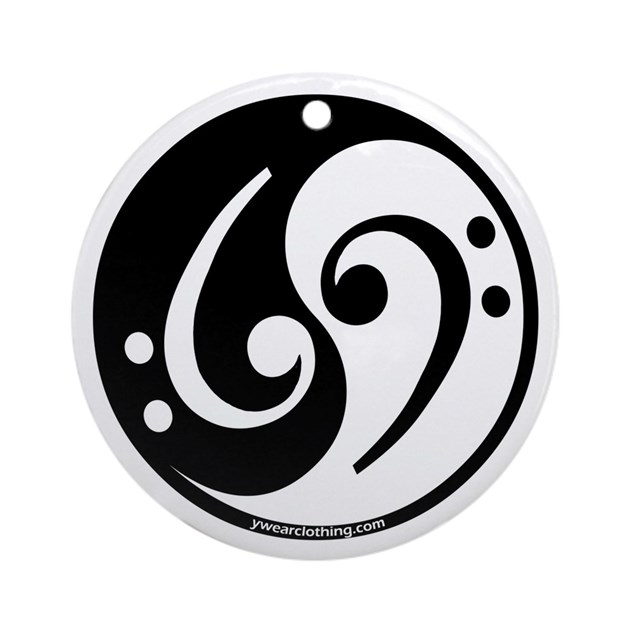 Yin yang bass note ornament round by ywearclothing for Table yin yang basse