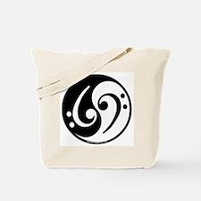 Yin Yang Bass Note Tote Bag