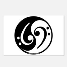 Yin Yang Bass Note Postcards (Package of 8)