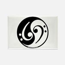 Yin Yang Bass Note Rectangle Magnet (10 pack)