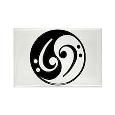 Yin Yang Bass Note Rectangle Magnet