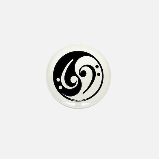 Yin Yang Bass Note Mini Button