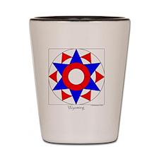 Wyoming square Shot Glass