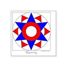 "Wyoming square Square Sticker 3"" x 3"""
