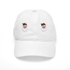 Santa with Holly Spring Baseball Cap