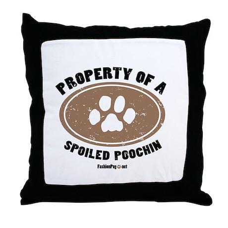 Poochin dog Throw Pillow