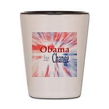 Obama for Change Shot Glass