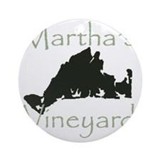 marthasvineyard Round Ornament