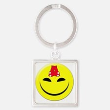 smileyredsox Square Keychain
