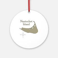 nantucketisland Round Ornament