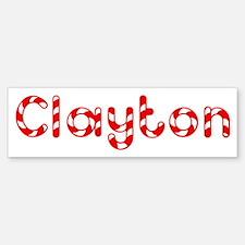 Clayton - Candy Cane Bumper Bumper Bumper Sticker