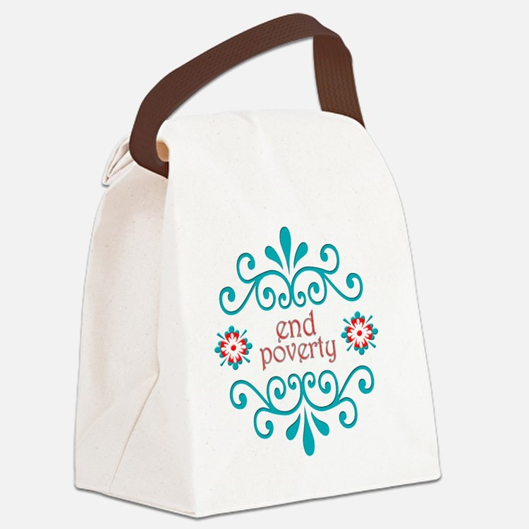 endpoverty Canvas Lunch Bag