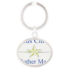 jesuschristmothermary Oval Keychain