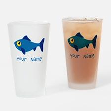 Personalized Fish Fisherman Drinking Glass