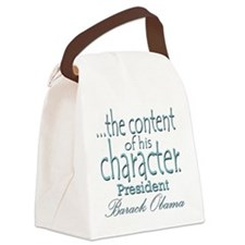contentofcharacterobama Canvas Lunch Bag