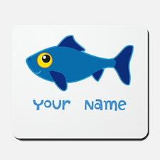 Personalized Fish Fisherman Mousepad