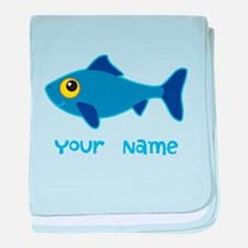 Personalized Fish Fisherman baby blanket