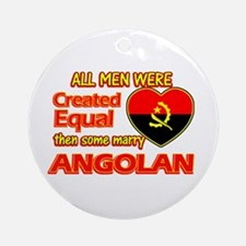 Angolan Wife Designs Ornament (Round)