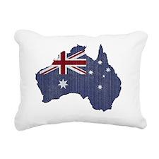 australia flag Rectangular Canvas Pillow