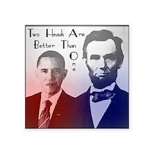 """obama lincoln Square Sticker 3"""" x 3"""""""