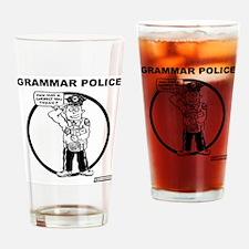 Unique Grammar police Drinking Glass