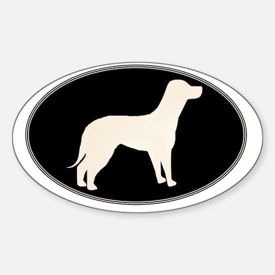goldlabovaltee Sticker (Oval)