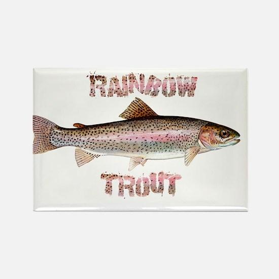 Rainbow Trout Rectangle Magnet
