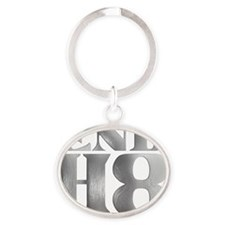 endhate Oval Keychain