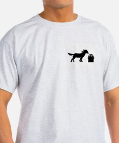 DOG N GIFT Ash Grey T-Shirt
