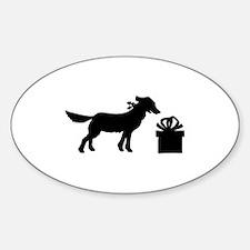 DOG N GIFT Oval Decal