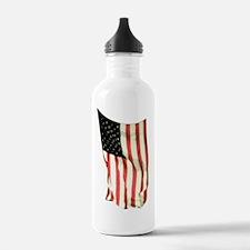 usflagwcverttop Water Bottle