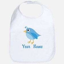 Personalized Blue Bird Bib