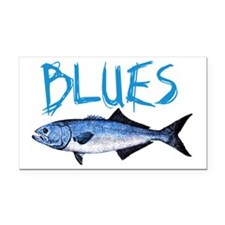 blues Rectangle Car Magnet