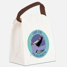 2-ccwhale Canvas Lunch Bag