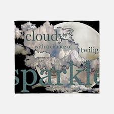 cloudysparkle14x10 Throw Blanket