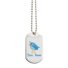 Personalized Blue Bird Dog Tags