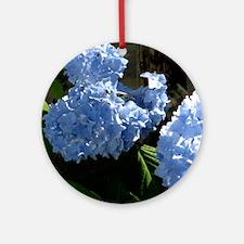 bluehydrangapillow Round Ornament