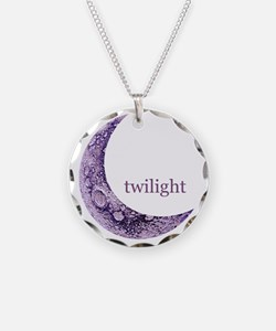 twilightqtrmoon Necklace Circle Charm