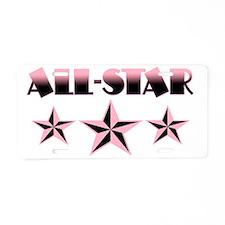 allstar Aluminum License Plate