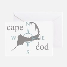 capecodcompasstee Greeting Card