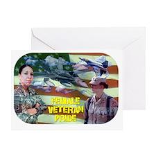femaleveteranpride Greeting Card